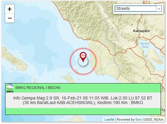 Hari Ini Tiga Kali Diguncang Gempa di Aceh